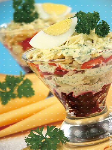 Рецепт салат из свеклы с орехами фото.